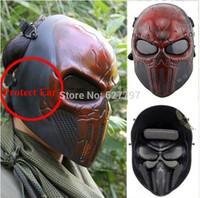 Chastener orelha- protetor cara cheia Airsoft paintball airsoft para festa de halloween wargame campo cs jogo cosplay prop