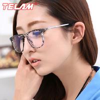 Fashion radiation-resistant glasses Men Women pc mirror metal big frame glasses anti-fatigue goggles