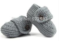 Free shipping soft sole newborn crochet shoes baby crochet shoes