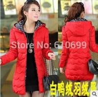 Korean version of the long down jacket winter coat down jacket brand new women down coat