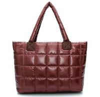 new hot female bag 2014 Winter feather bag space bag padded bag Europe shoulder hand bag