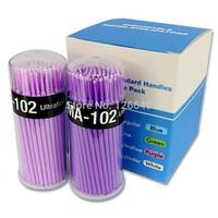100pcs Lint Free Micro Brushes Disposable Swab for Eyelash Extension Micro Mascara Brush for Eyelash Extensions Freeshipping