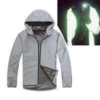 Spring Autumn Winter Men's Jackets Outdoors Blank 3M Reflective Jacket Cool Hooded Zipper Sport Coats