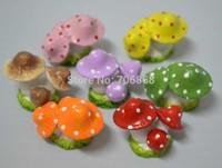 3 heads artificial creative resin mini waterproof mushroom crafts&gift decoration