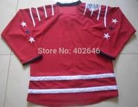 Washington 2015 winter classic blank red hockey jerseys, please read size chart before order