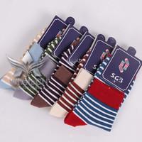 High Quality Men's Socks100% Combed cotton classic  men's socks warm Casual adults SGB Brand Personas socks Sport Stripe pattern