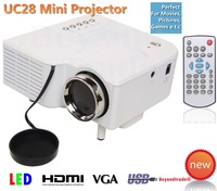 Mini Pico Led Projector HDMI Home Theater Cinema For Video Games TV Movie Support HDMI VGA AV Portable and Free Shipping