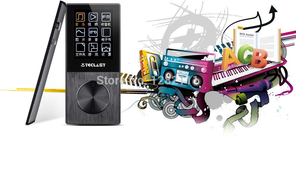 Singapore post free shipping! Original Smart Mini Teclast X30SE 4GB MP3 Music Player With 1.8inch screen FM Radio Voice(China (Mainland))
