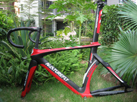 Special Arrival !! Free Shipping !! 2015 Aero Carbon Track Frame+Integarted bar Red/Black/White