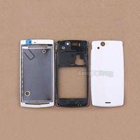 Original Full Housing Cover Case for Sony Ericsson Xperia Arc S LT15i LT18i 1pc/lot Free shipping White