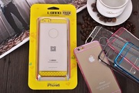 electroplating alloy frame +geometry pattern PC hard back Shock absorption cover case for iPhone 6  Free shipping