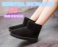 2014 Autumn Winter SUPER WARM! Women Ankle Boot. Black. Essential Low Snow Boot. Flock Thick Plush FREE SHIPPING Female Shoe ZX