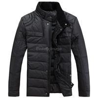 New Arrival Brand Stand Collar Black Men Jackets Outdoors Slim Korean Coat Parka Men's Winter Jacket