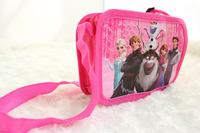 Free Shipping 12pcs Frozen purse cartoon kids snack pack single shoulder satchel