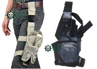 Tactical Drop Leg Pistol Holster Pouch Bag airsoft sport outdoor bag