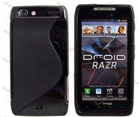 500pcs/Lot TPU S Line Stylish Design GEL Case Cover Skin for Motorola RAZR XT910