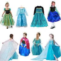 Frozen dress Animated cartoon  Elsa Anna dress costume princess dress sequined girls kids party dresses