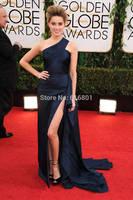 Golden Globes 2014 Best Dressed One Shoulder Ruffles Amber Heard Celebrity Red Carpet Dresses