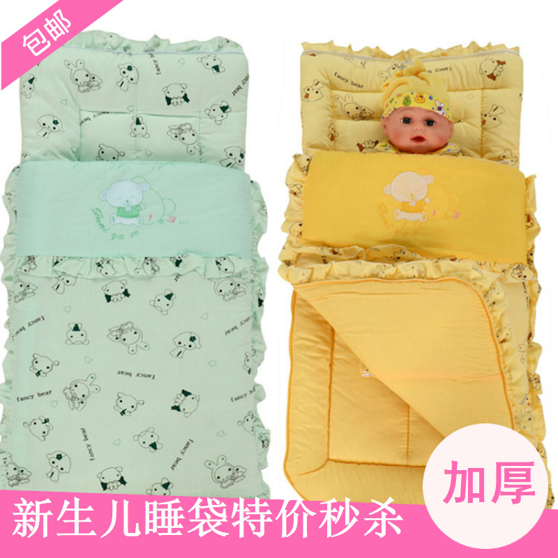Free shipping 100% cotton thick cart baby sleeping bag newborn holds parisarc chiddler Small anti ti pi Two-way zipper(China (Mainland))