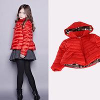 2014 new design fashion Children Girls short coat winter down jackets, Girls winter coat jacket Kids Girl coat color of clothes