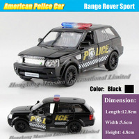 1:36 Scale Alloy Diecast American Police Car Model For Range Rover Sport Collection Pull Back Car Toys - Black