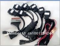 Free shipping High quality Full set  8PCS/set connect cables for CDP PRO scanner Adaptor