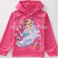 Winter Autumn Roupas Infantil Frozen Anna Children Outerwear Coats Girls Brand Cartoon Jackets Kids Hoodies BOS.F9