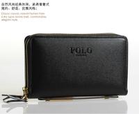 Leather Mens wallets men hand bag large capacity Wallet