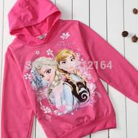 Frozen Elsa Children Outerwear Coats For Girls Brand Cartoon Jackets Winter Autumn Baby Kids Hoodies Clothing  Infantil BOS.F2