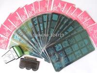 Nail Art Stamp STAMPING Print Design Metal Plate TO17-32  With 1 set of Stamper Transfer Kit