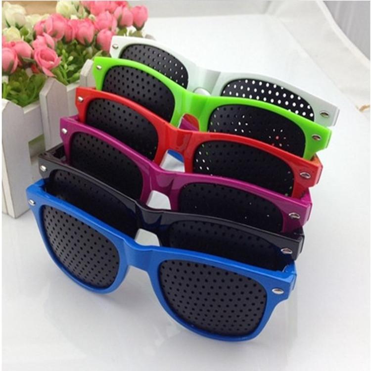 Free shipping new 2014 fashion brand anti-fatigue pinhole glasses eye exercise eyesight vision correction glasses(China (Mainland))