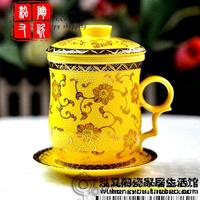 Free shippingJingdezhen Ceramic cup mug tea cup with lid Gift Set Gift Box Wholesale 4