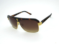 Free shipping new arrival fashion 1:1 all-match brand women's and men's big box sunglasses P8682
