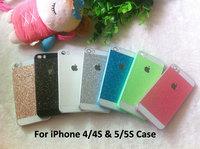 10PCS Luxury Glitter Case For iPhone 5 5S 4 4S Sparkle Bling Glitter Skin Glam Hard Plastic Back Cover Shell Cell phone Cases
