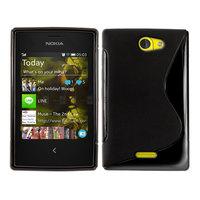 500pcs/Lot TPU S  Line GEL Case Cover for Nokia Asha 502