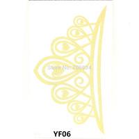 Temporary Tattoo Sticker Metallic Gold Foil Tattoo Flash tattoos 10pcs Gold Temporary Tattoo Waterproof Small