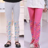 Baby girl prints star bowknot leggings , Fall 2014 new girls leggings , Children's clothing leggings