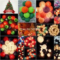 20pcs/set cotton balls fairy string lights party xmas  patio holiday wedding Bedroom Halloween decor, multicolor