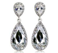 Angel Teardrop  Zircon Earrings Top Crystal Drop Earring Brand Handsome Jewelry Christmas Gifts Accessories For Women