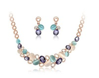 In Europe and the light is shining star temperament necklaces earrings set+ Free shipping#014030640