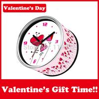 2015 New Valentine Love Gifts Clocks In Heart Design Wall Clocks For Love Clocks In Magnetics Desk Table Clocks