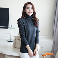 Autumn Winter Casual women sweater solid woolen thin long sleeve turtleneck knitted pullovers sweater MY118