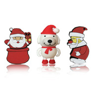New Christmas Gift Santa Buddies Santa Claus Wholesale Genuine 2-32GB Usb 2.0 Memory Flash Stick Pen Drive LU541