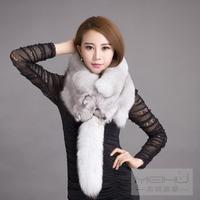 Silver fox muffler scarf fox cape fur scarf muffler scarf fox scarf winter