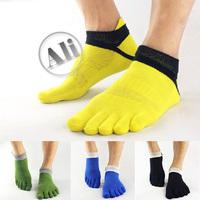 NEW  Antibacterial Breathable Short Tube Cotton Five Toe Socks Sports socks 5PCS Free Shipping