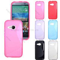 500pcs/Lot TPU S  Line GEL Case Cover for  HTC ONE 2 M8 Mini