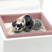 New 925 Sterling Silver Autumn Mystic Flower Charm Women Jewelry Set box Fit European Charm Bracelet & Necklace Pendant Gift Set