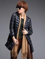 2014 Women's Fashion White Duck Down Winter Parks hooded down jacket Slim Down Parkas female Plus Size S - XXXL  PA-822