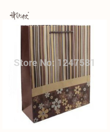 portable Clothing Packing Brown Kraft Paper Bags oem production paper shopping bag(China (Mainland))
