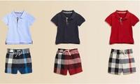 2015 new brand summer children suit set boys t-shirt pants plaid boys kids clothes baby boys clothes set